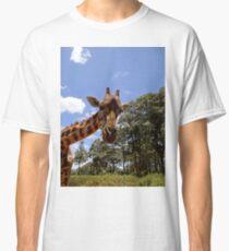 Giraffe getting personal 4 Classic T-Shirt