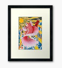 ukiyo-e betta fish  Framed Print