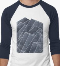 Isometric Waves  Men's Baseball ¾ T-Shirt