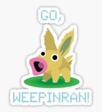 Cute Weepinran Pokemon Fusion Sticker