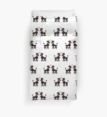 French Poodles Duvet Cover