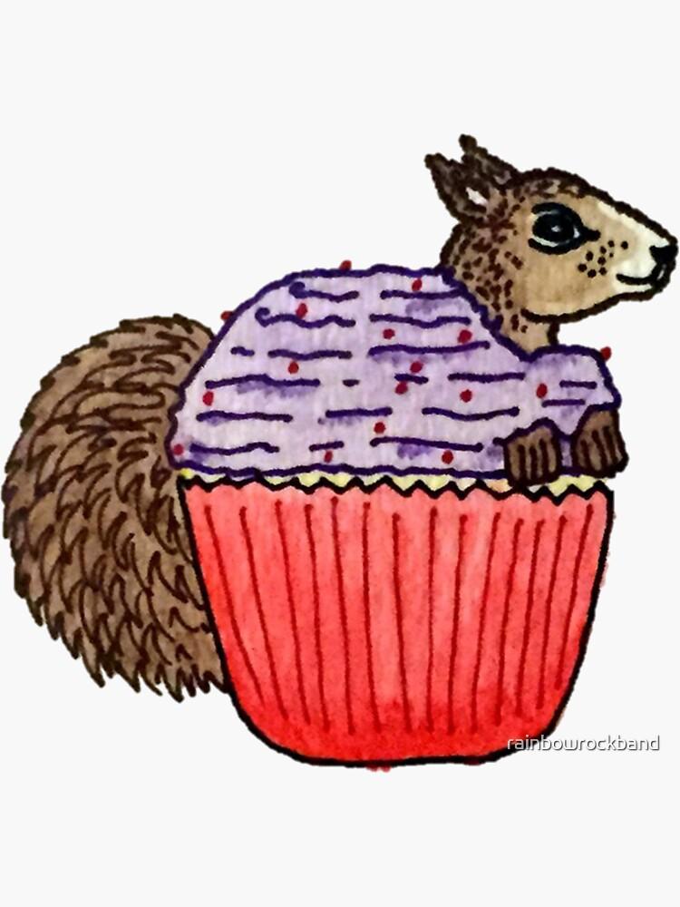 Squirrel in My Cupcake by rainbowrockband