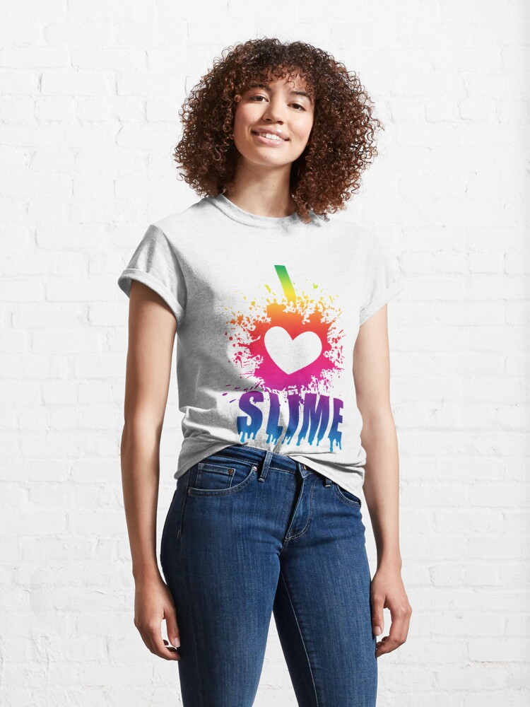 Alternate view of I Love Slime - Funny T Shirt Gift idea for slime parties Classic T-Shirt