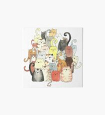 A Clowder of Colourful Cats Art Board