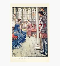 King Arthur's Knights - The Tale Retold for Boys and Girls by Sir Thomas Malory, Illustrated by Walter Crane 251 - Sir Awen Greets the Lady of the Fountain Photographic Print