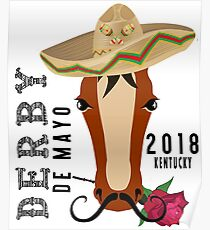 Cool Kentucky Horse Race Derby Day Cinco de Mayo 2018  Poster