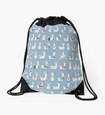 Cool llamas col. Drawstring Bag