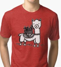 Hand drawn llamas Tri-blend T-Shirt