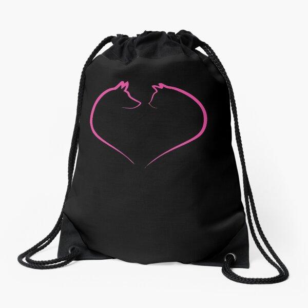 Veterinarian Dog Cat Heart Drawstring Bag