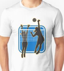 Volleyball Player Blocking a Spike Unisex T-Shirt