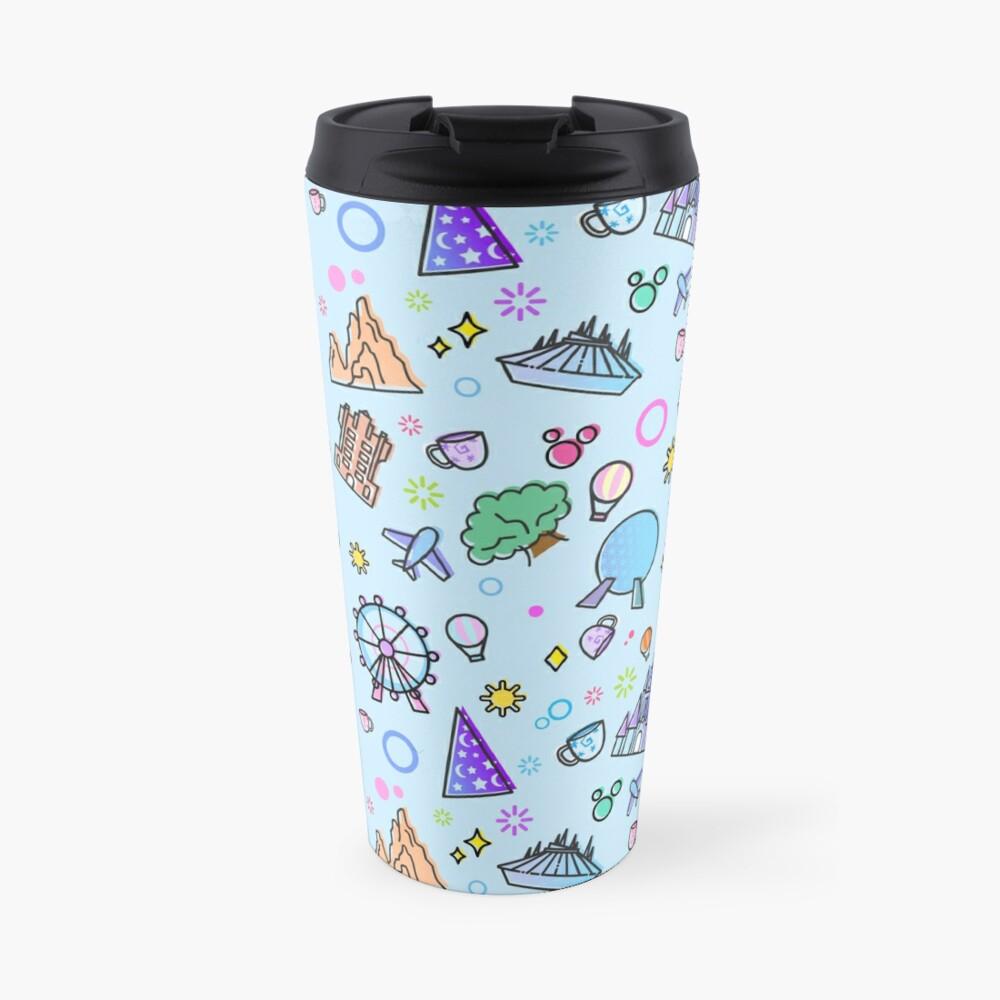 Meet me at my Happy Place Pattern Travel Mug