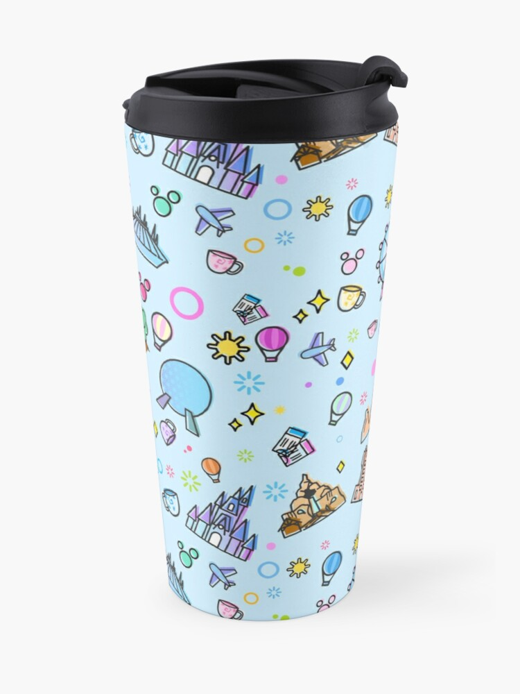 Alternate view of Meet me at my Happy Place Pattern Travel Mug