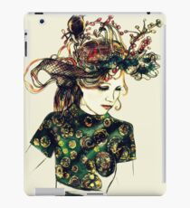 Foreign Slippers, Lady in a Birds Nest Hat with Chinese Dress iPad Case/Skin