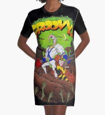 Earthworm Jim vs The Army of Darkness! Graphic T-Shirt Dress