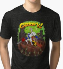 Earthworm Jim vs The Army of Darkness! Tri-blend T-Shirt