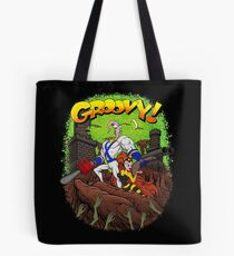 Earthworm Jim vs The Army of Darkness! Tote Bag