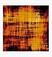 Grunge Orange Brown Paper Abstract Photographic Print
