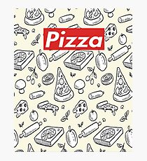 people who like pizza-funny t-shirt, Phone Cases & Skins, Clock,Drawstring Bags-supreme Photographic Print