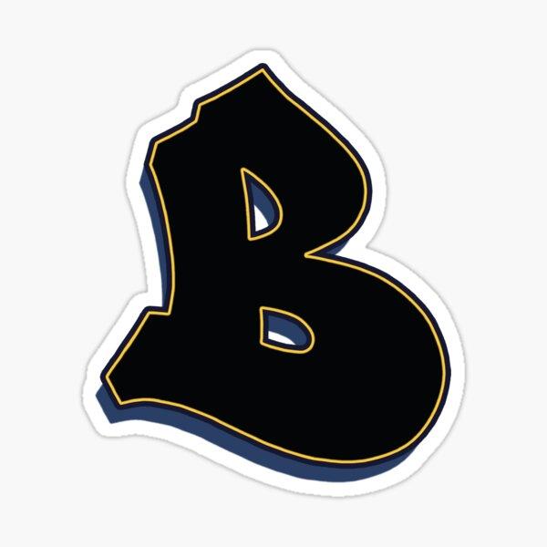 B - black / yellow Sticker