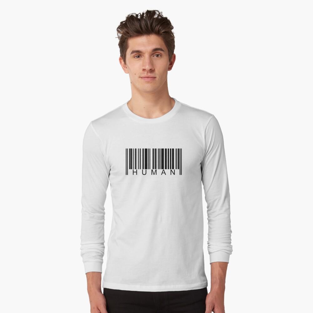 Human Barcode Long Sleeve T-Shirt