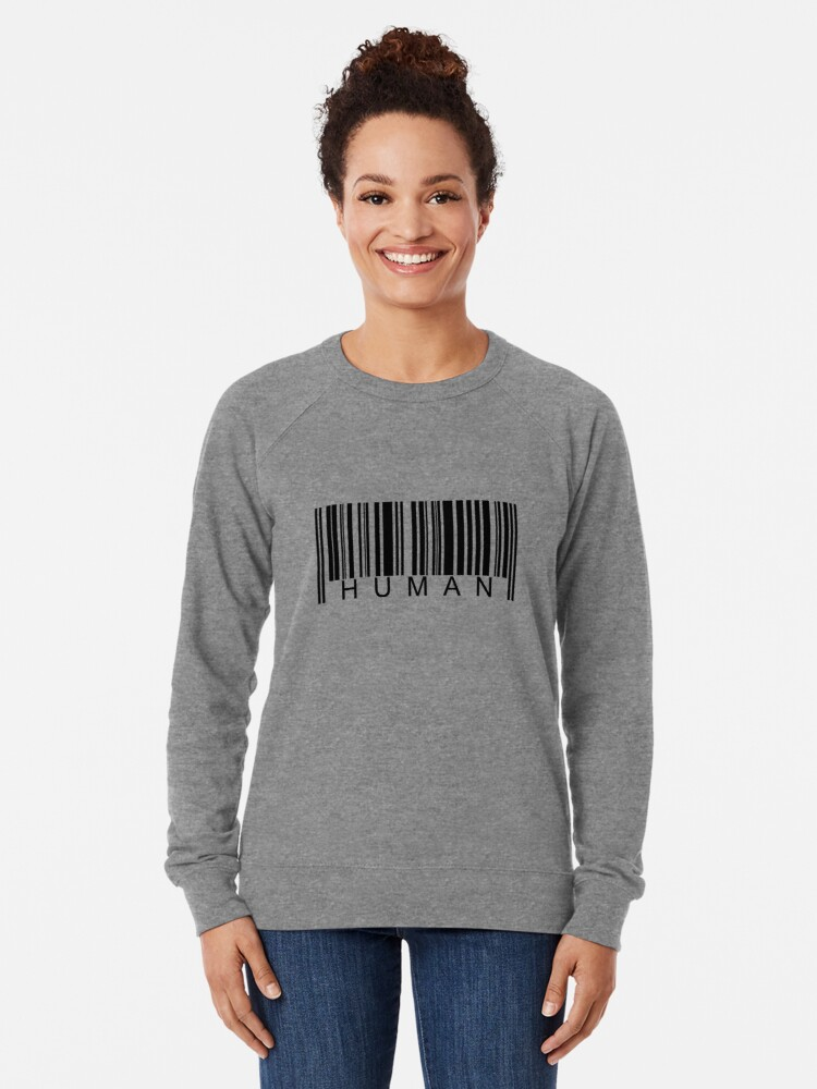 Alternate view of Human Barcode Lightweight Sweatshirt