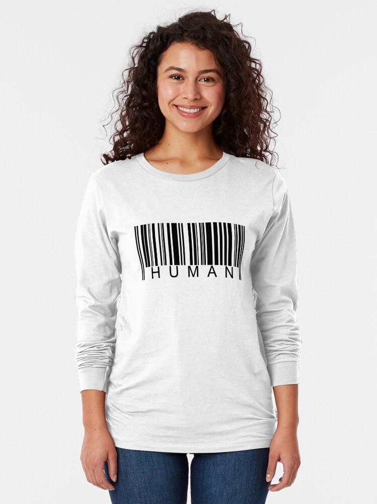 Alternate view of Human Barcode Long Sleeve T-Shirt