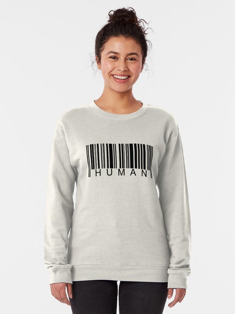 Alternate view of Human Barcode Pullover Sweatshirt