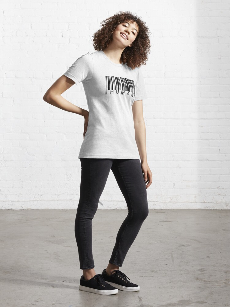 Alternate view of Human Barcode Essential T-Shirt