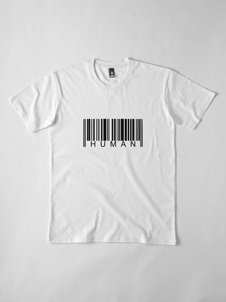 Alternate view of Human Barcode Premium T-Shirt