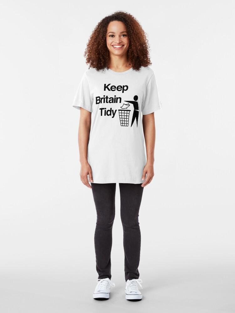 Alternate view of NDVH Keep Britain Tidy Slim Fit T-Shirt