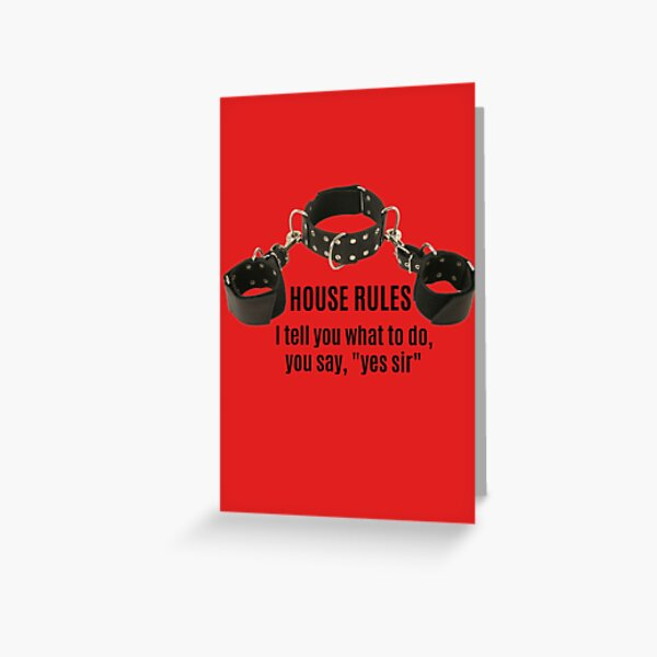 Collar & Cuffs House Rules Male Greeting Card