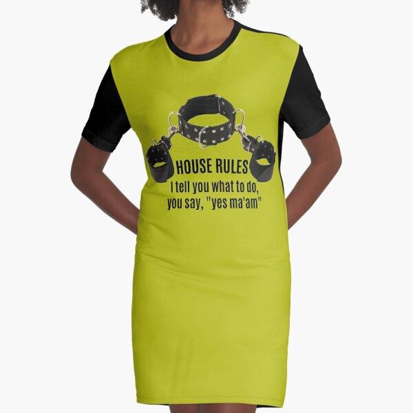 Collar & Cuffs House Rules Female Graphic T-Shirt Dress