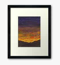 Stormy Mountain Sunset Framed Print