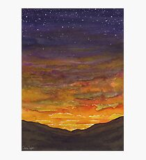 Stormy Mountain Sunset Photographic Print
