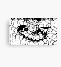 Rage of the fighter Canvas Print