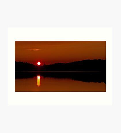 Algonquin Park - Brewer Lake Sunset Art Print