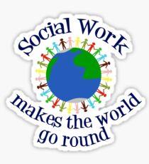 Social Work World Sticker