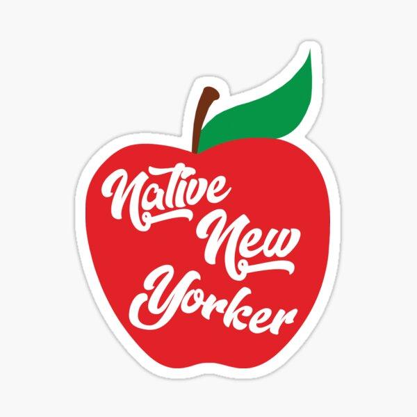 Native New Yorker Apple Sticker