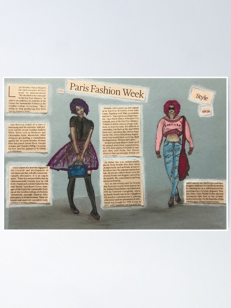 Paris Fashion Week Collage Poster By Victoriadv Redbubble