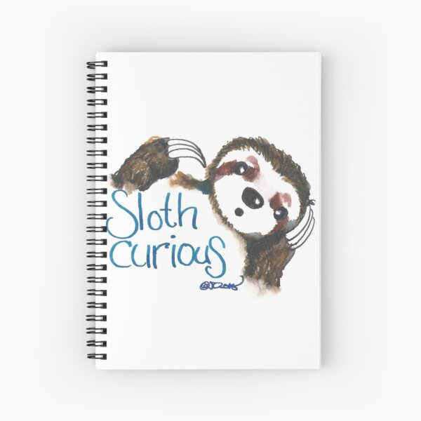 Sloth Curious Spiral Notebook