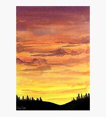 Rolling Hills Sunset Photographic Print