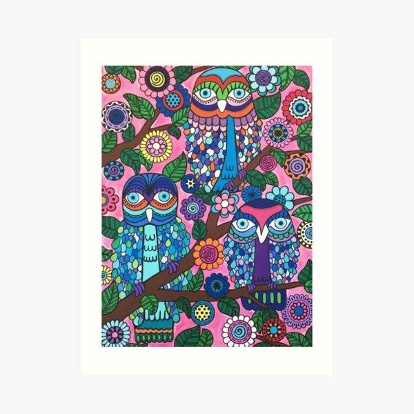 3 Owls Art Print