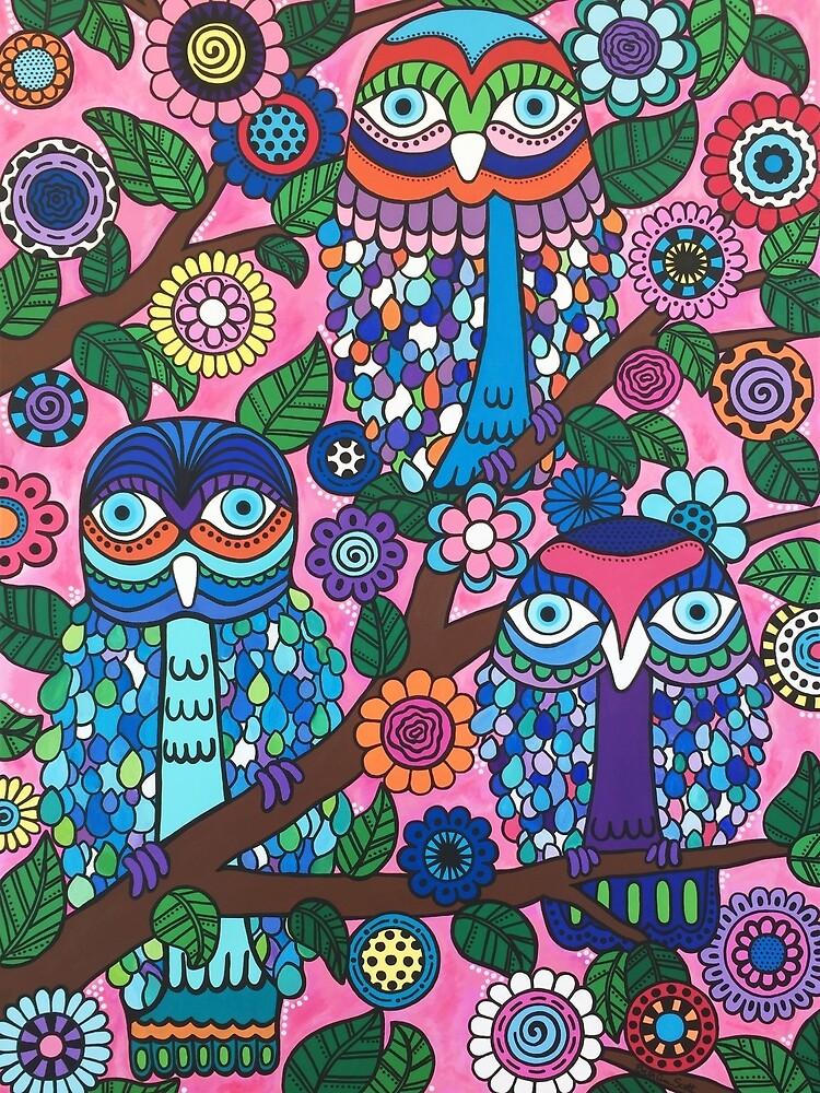 3 Owls by Beth Ann  Scott