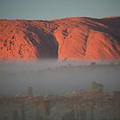 Uluru in the Mist by Jocelyn Pride