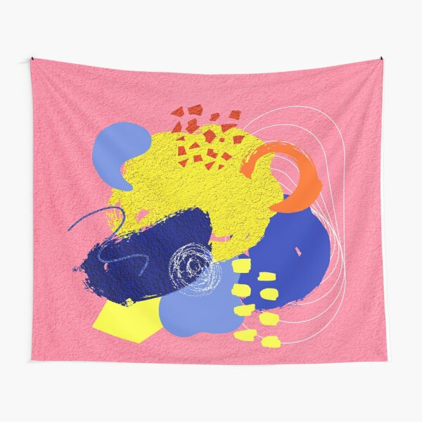 Pink Abstract no 1 Tapestry