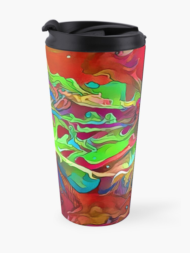 Alternate view of Psychedelic Wing Travel Mug