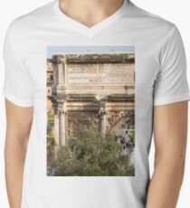 Arch of Septimius Severus with the Roman Forum Men's V-Neck T-Shirt