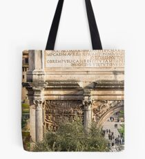 Arch of Septimius Severus with the Roman Forum Tote Bag