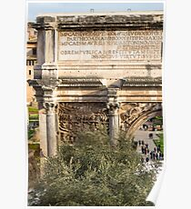 Arch of Septimius Severus with the Roman Forum Poster