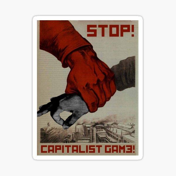 Capitalist Finger Game Sticker